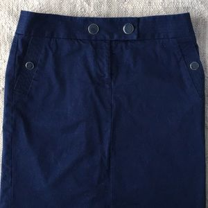 J. Crew Nautical Pencil Skirt